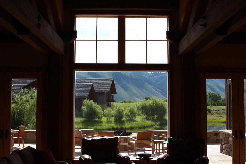 wyoming mountain view