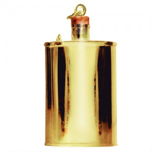 24k gold flask from jacob bromwell
