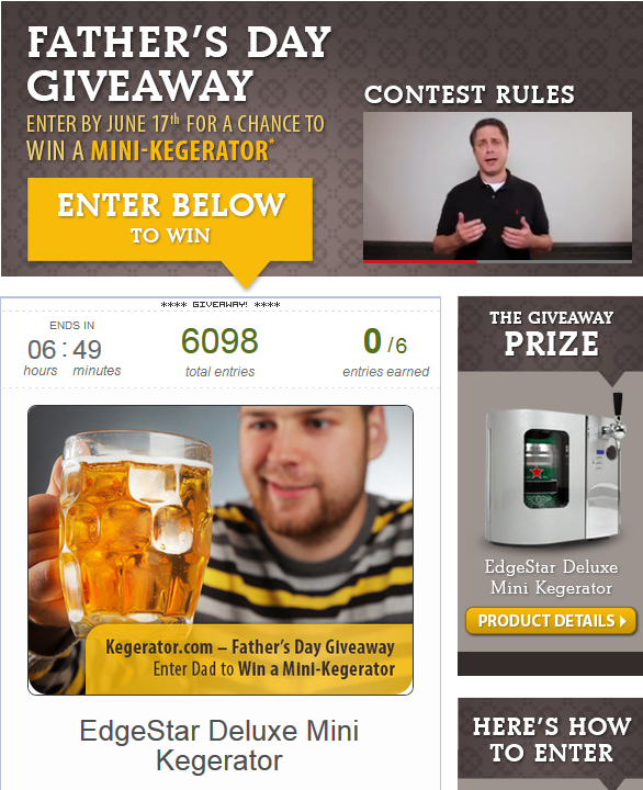 fathers day giveaway kegerator.com
