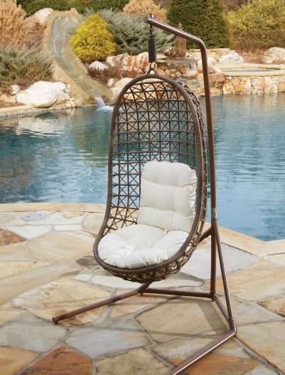 panama jack island cove hanging chair with base