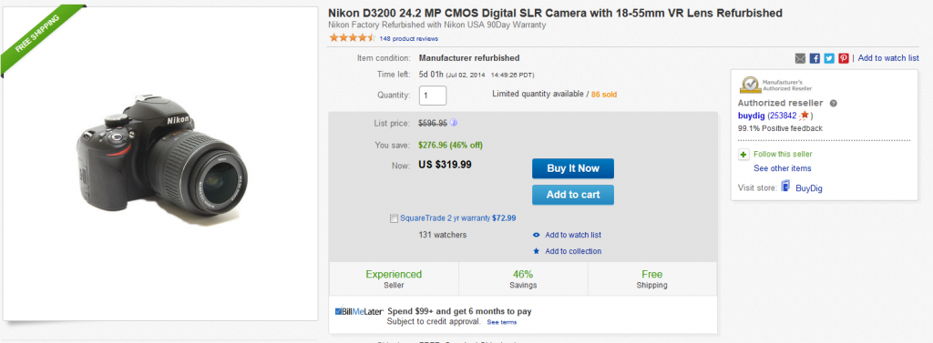 d3200 refurbished nikon
