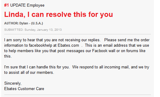 ebates reply on ripoffreport