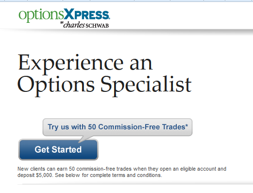 optionxpress 50 free trades