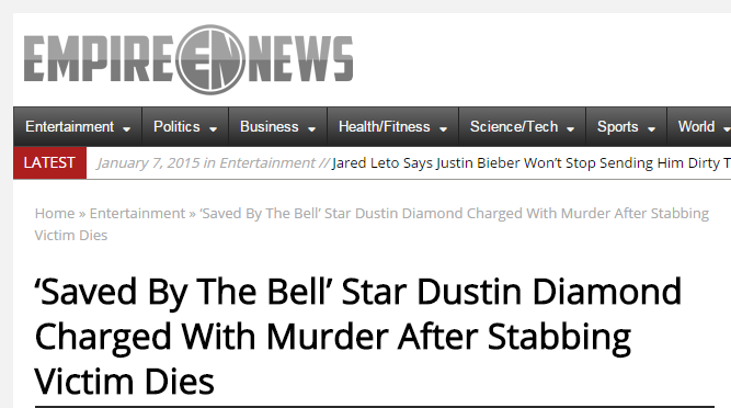 dustin diamond murder