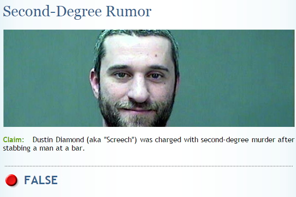 snopes dustin diamond