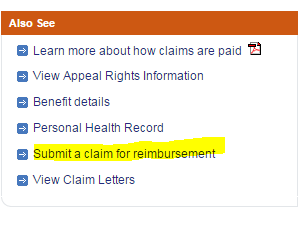 submit a claim for reimbursement